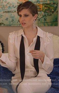 white-ruffle-shoulder-blouse